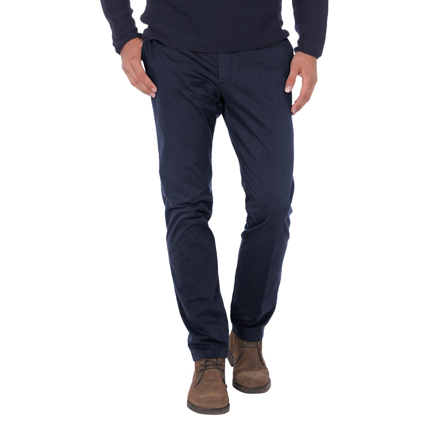 美國百分百【Tommy Hilfiger】褲子 TH 長褲 休閒褲 直筒 合身 Chino 深藍色 男 32腰 C511
