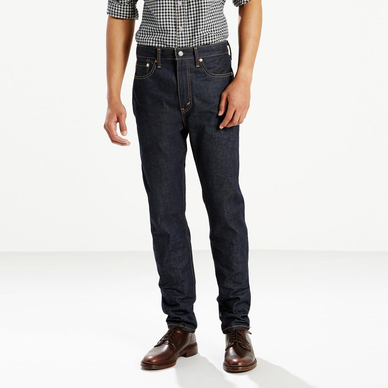 美國百分百【全新真品】Levis 522 Slim Taper 男款 牛仔褲 直筒 錐形 31 32腰 深藍 E949