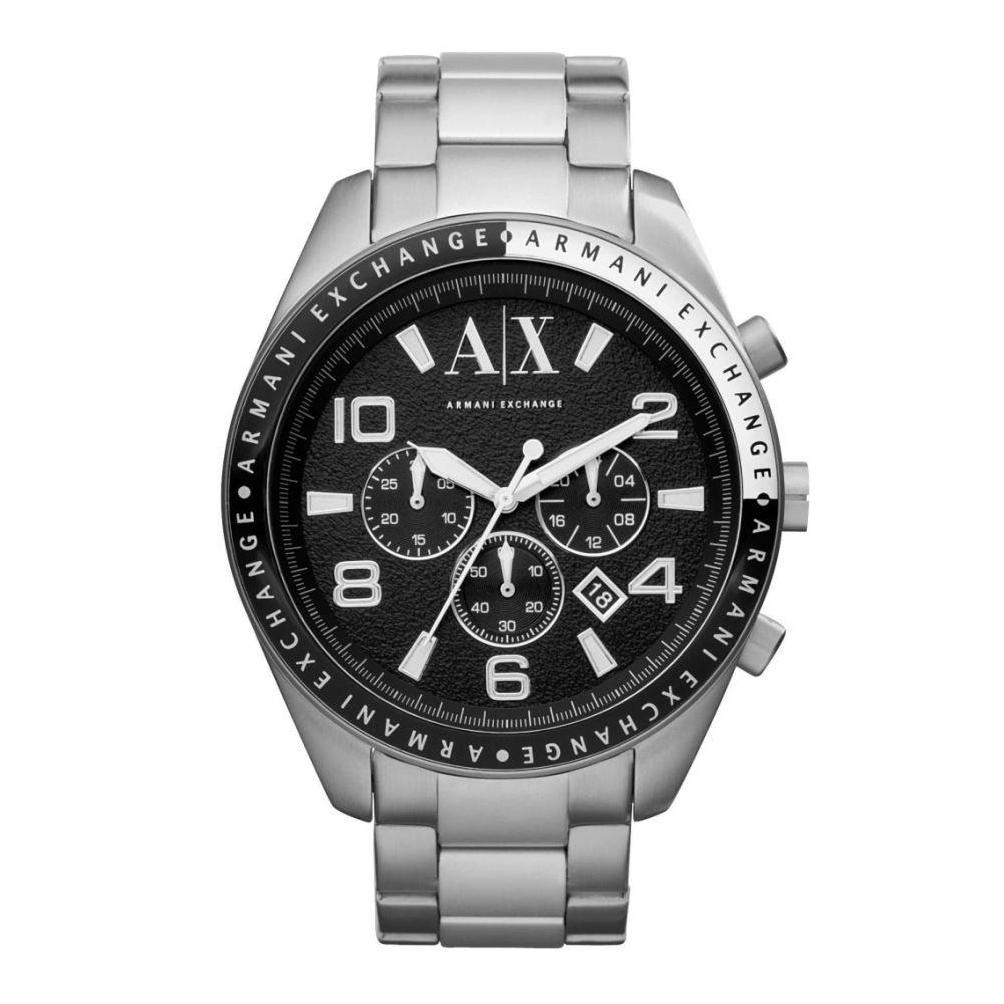 美國百分百【Armani Exchange】配件 AX 手錶 腕錶 金屬 大表面 三眼 計時 阿曼尼 不鏽鋼 F996