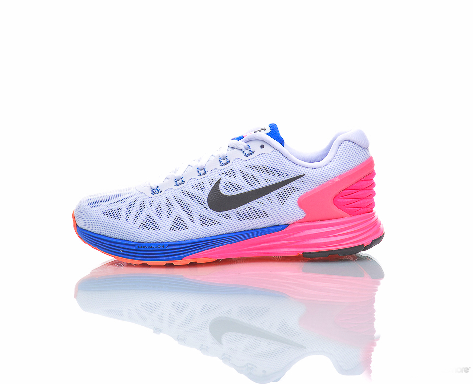 美國百分百【全新真品】Nike LunarGlide 6 耐吉 鞋子 慢跑鞋 運動鞋 輕量吸震 女鞋 7.5號 G029