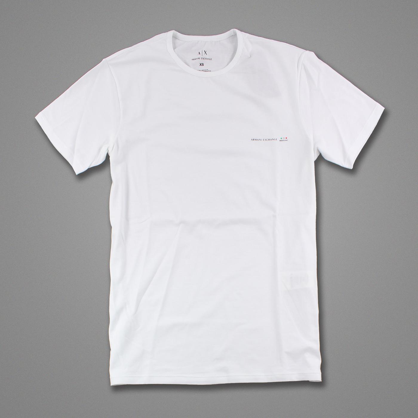 美國百分百【Armani Exchange】T恤 AX 短袖 logo 上衣 T-shirt 白色 XS S號 G049