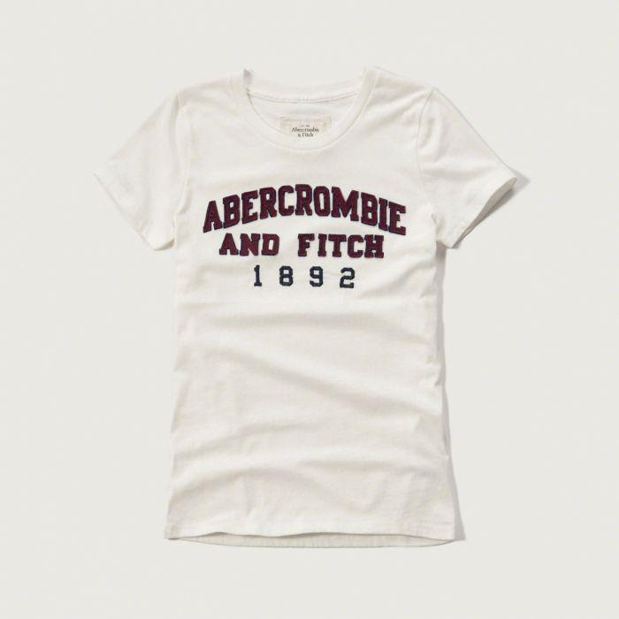 美國百分百【Abercrombie & Fitch】T恤 AF 短袖 T-shirt 短T 麋鹿 女 白色 XS S M號 G263