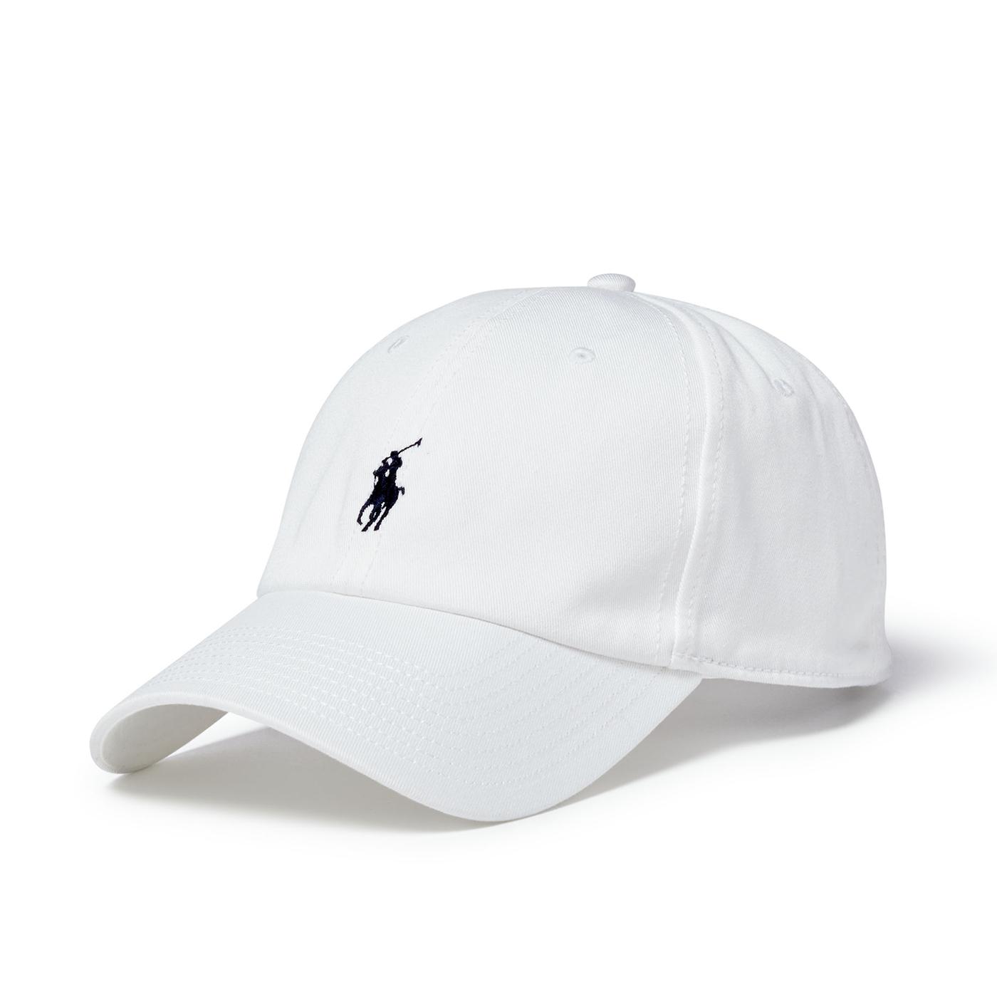 美國百分百【Ralph Lauren】帽子 老帽 RL 配件 棒球帽 Polo 小馬 帆布 白色 深藍小馬 A732