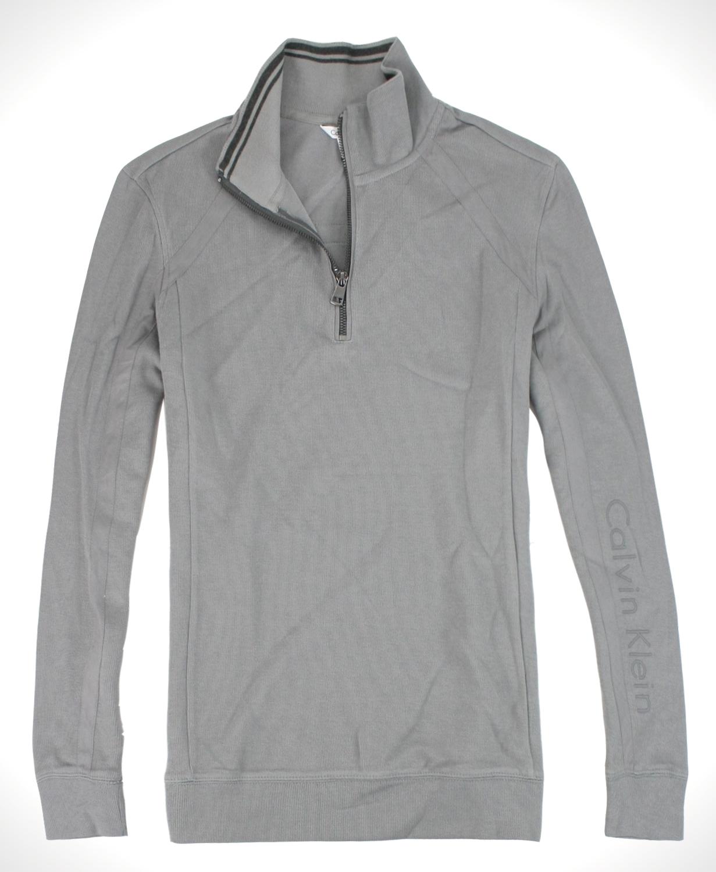 美國百分百【全新真品】Calvin Klein CK 針織半拉 長袖 T恤罩衫 特色夾克 外套 型男 免運S M XL