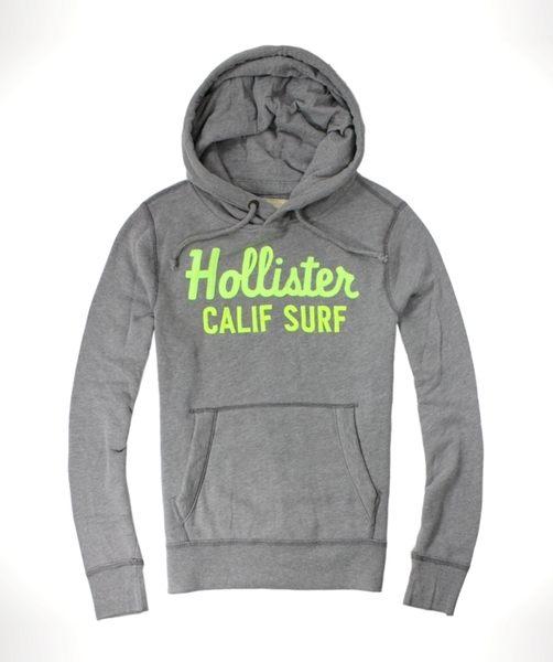 美國百分百【全新真品】Hollister Co. HCO 男 海鷗 灰色 連帽 長袖 T恤 帽T 套頭 長T 外套 S號