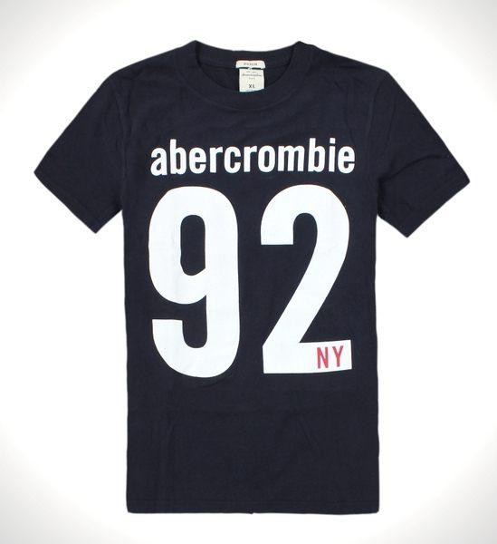 美國百分百【全新真品】Abercrombie & Fitch T恤 AF 女衣 M號 短袖 麋鹿 深藍 Kids T-shirt 男衣 XS號