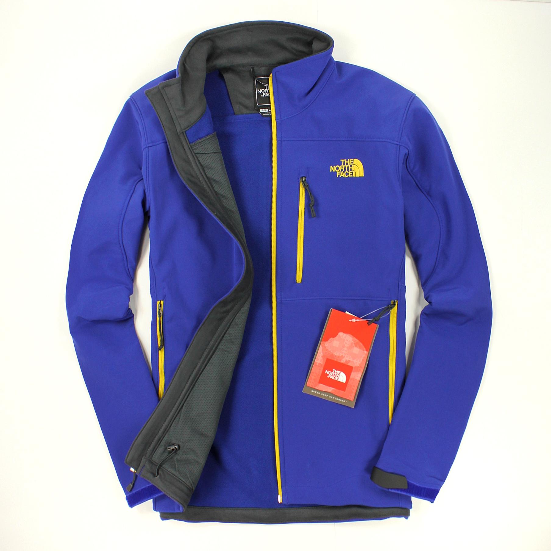美國百分百【全新真品】The North Face 外套 TNF 軟殼 夾克 防風 防水 保暖 北臉 寶藍 男衣 S號