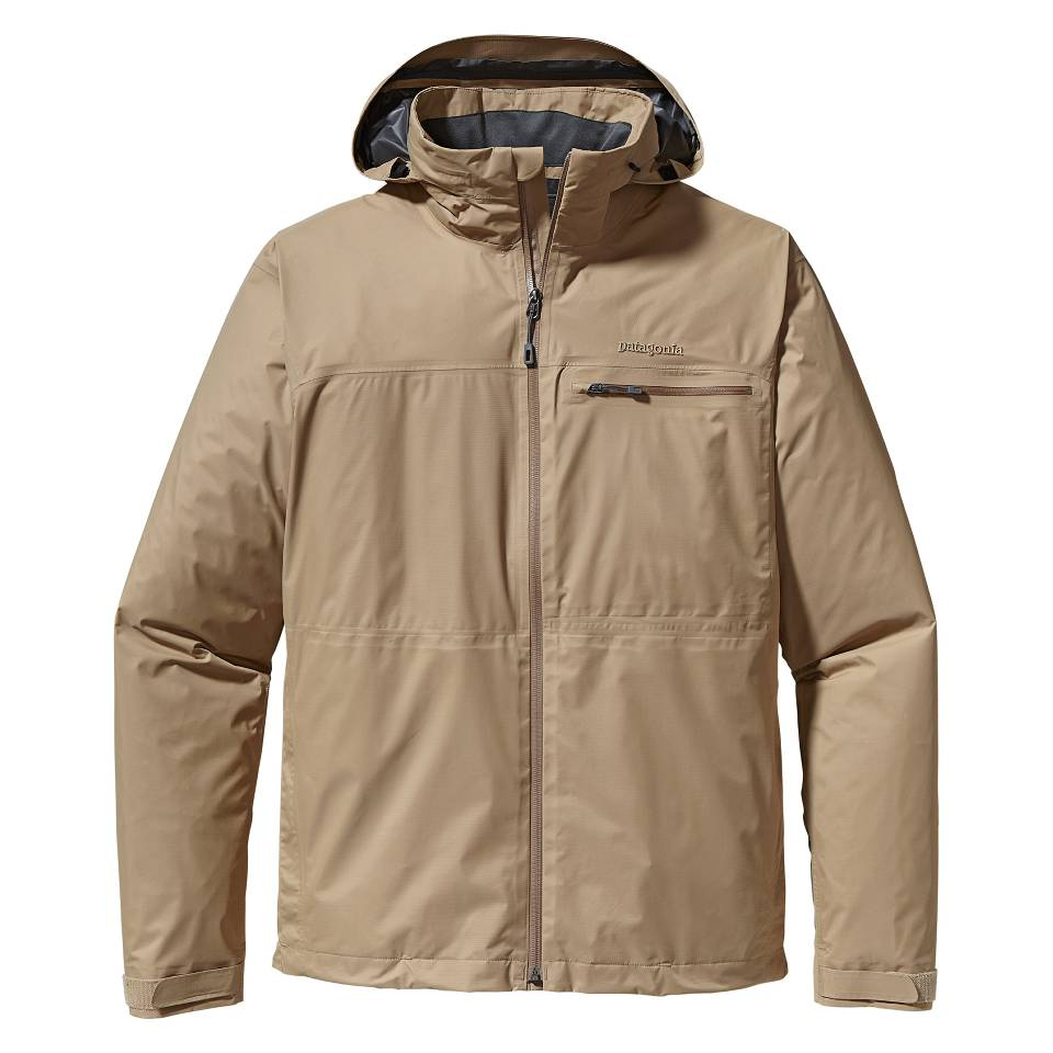 美國百分百【全新真品】Patagonia 外套 Gore tax 防風外套 風衣 卡其 連帽 防水 保暖 專利 男 S號