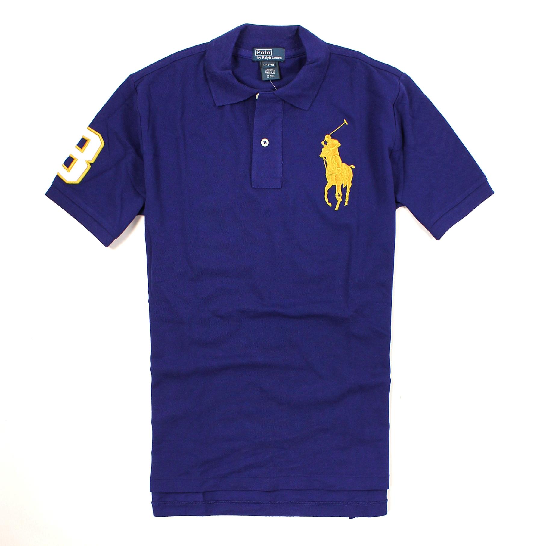 美國百分百【全新真品】Ralph Lauren Polo衫 RL 短袖 上衣 Polo 大馬 金馬 寶藍 純棉 網眼 男 XS號