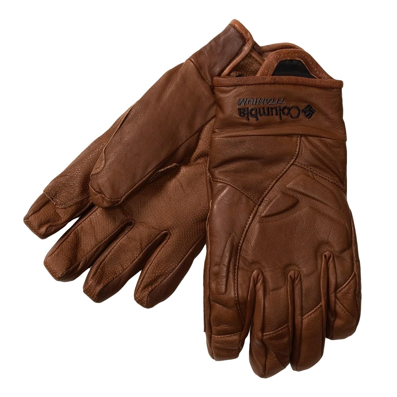 美國百分百【全新真品】Columbia 手套 配件 哥倫比亞 咖啡 防滑 小羊皮 鈦 Titanium 透氣 男 S-M 女 XL
