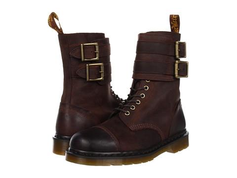 美國百分百【全新真品 】Dr.Martens 鞋子 馬汀 靴子 長靴 短靴 長筒 麂皮 咖啡 拉鍊 真皮 男 9號