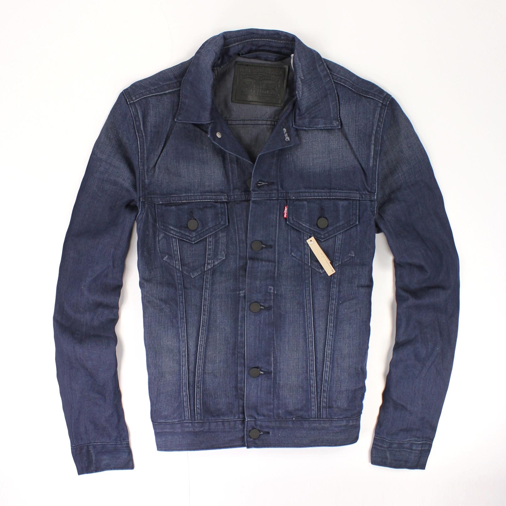 美國百分百【全新真品】Levis 外套 牛仔外套 夾克 藍 雙頭馬車 硬挺 雙口袋 純棉 型男 男 S M號