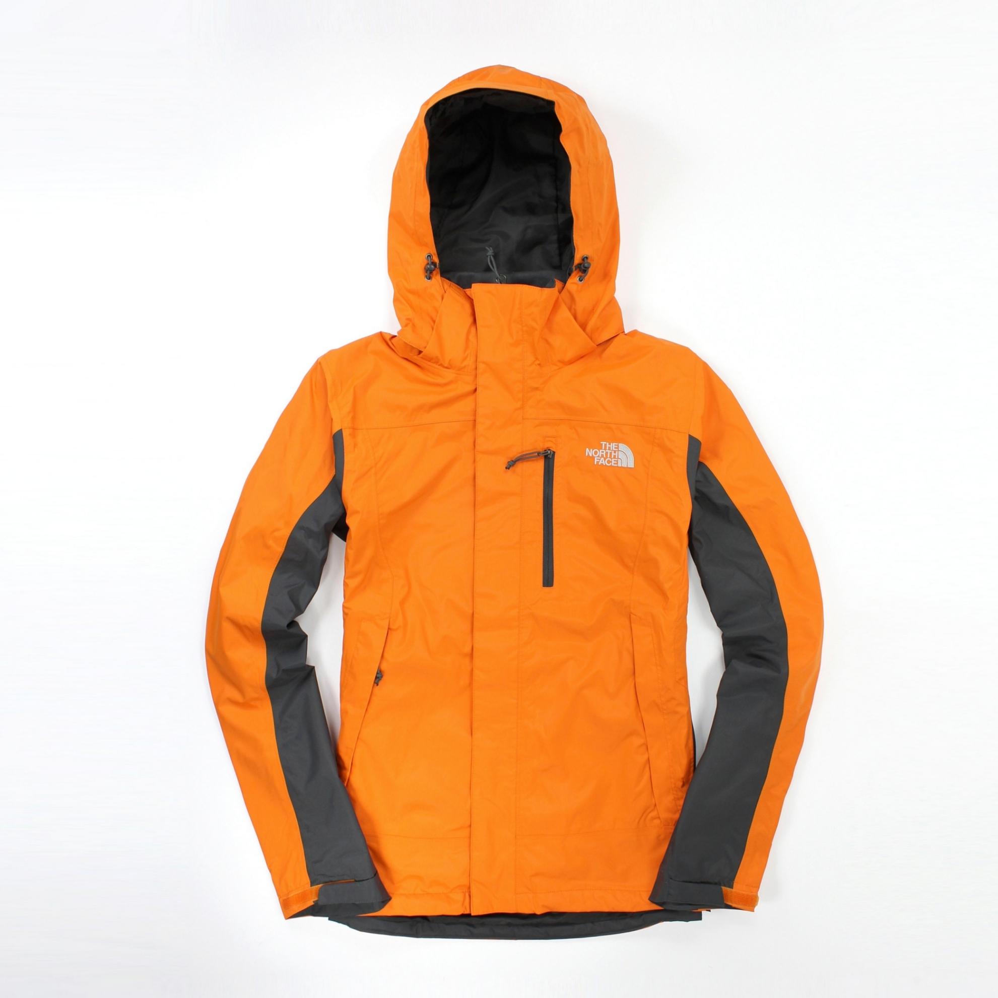 美國百分百【全新真品】The North Face 外套 TNF 連帽 夾克 Hyvent 防水 可搭配兩件式 透氣 橘 S 男 B964