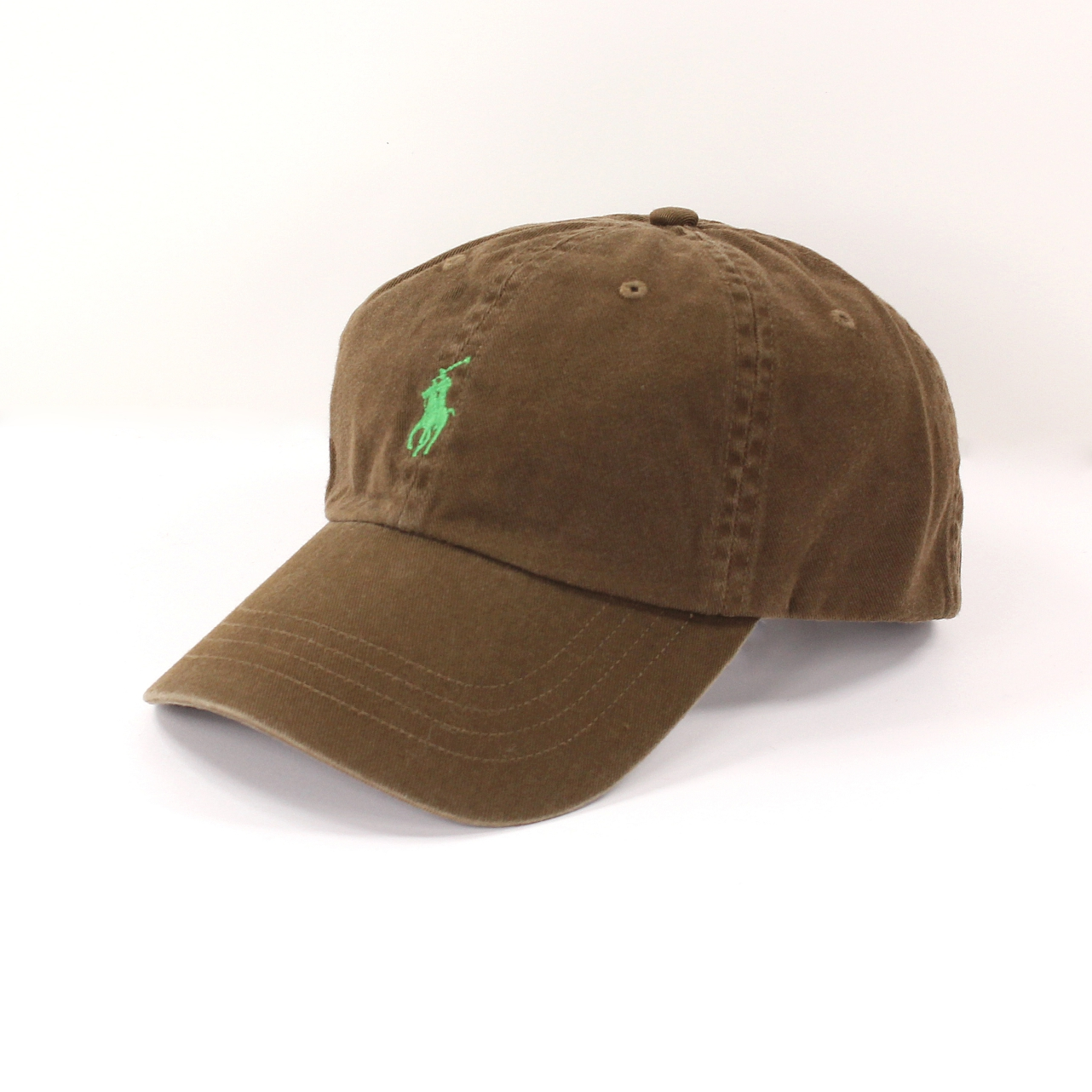 美國百分百【全新真品】Ralph Lauren 帽子 RL 配件 棒球帽 Polo 小馬 咖啡 帆布 刺繡 透氣 男 A732