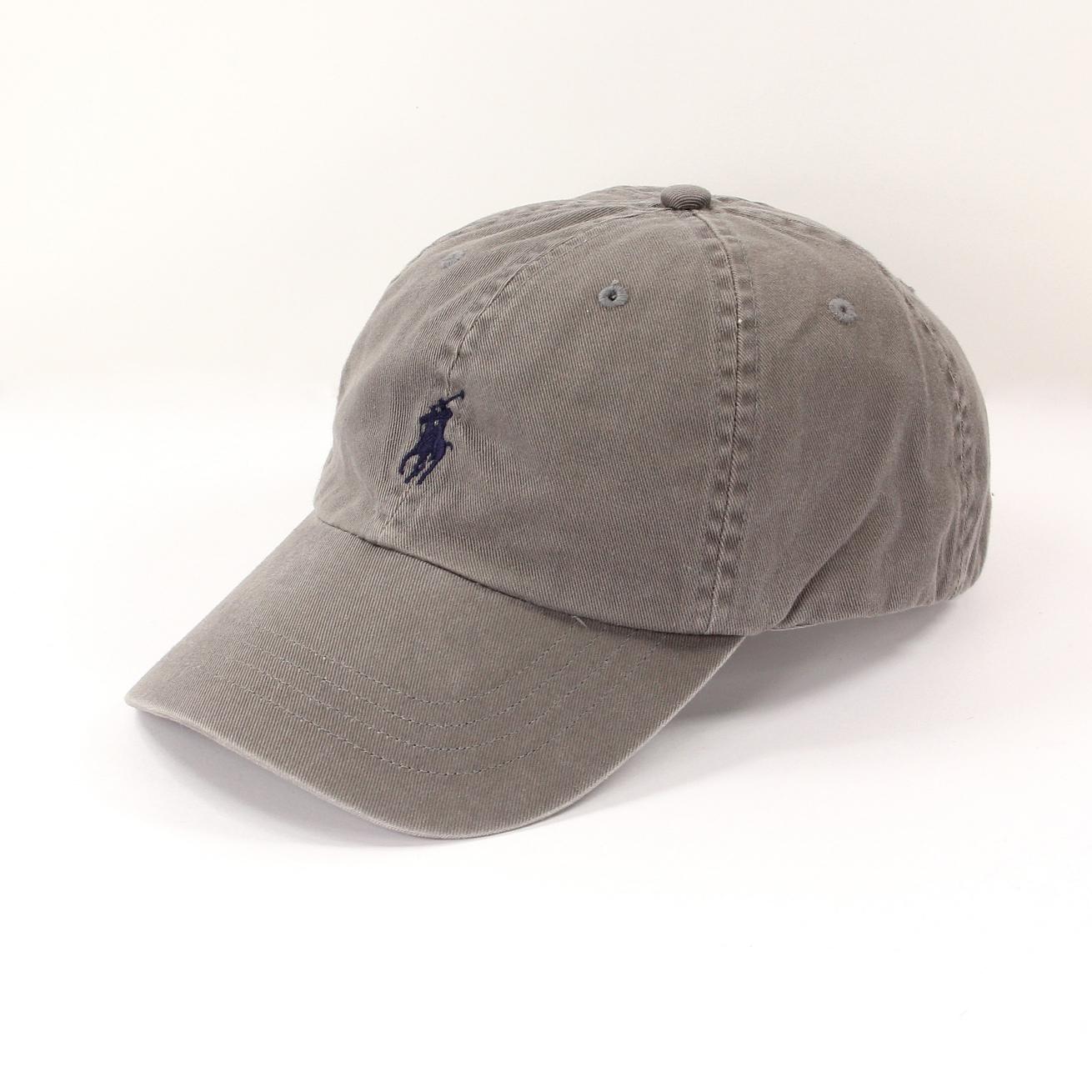 美國百分百【全新真品】Ralph Lauren 帽子 RL 配件 棒球帽 Polo 小馬 灰 帆布 刺繡 男 A732
