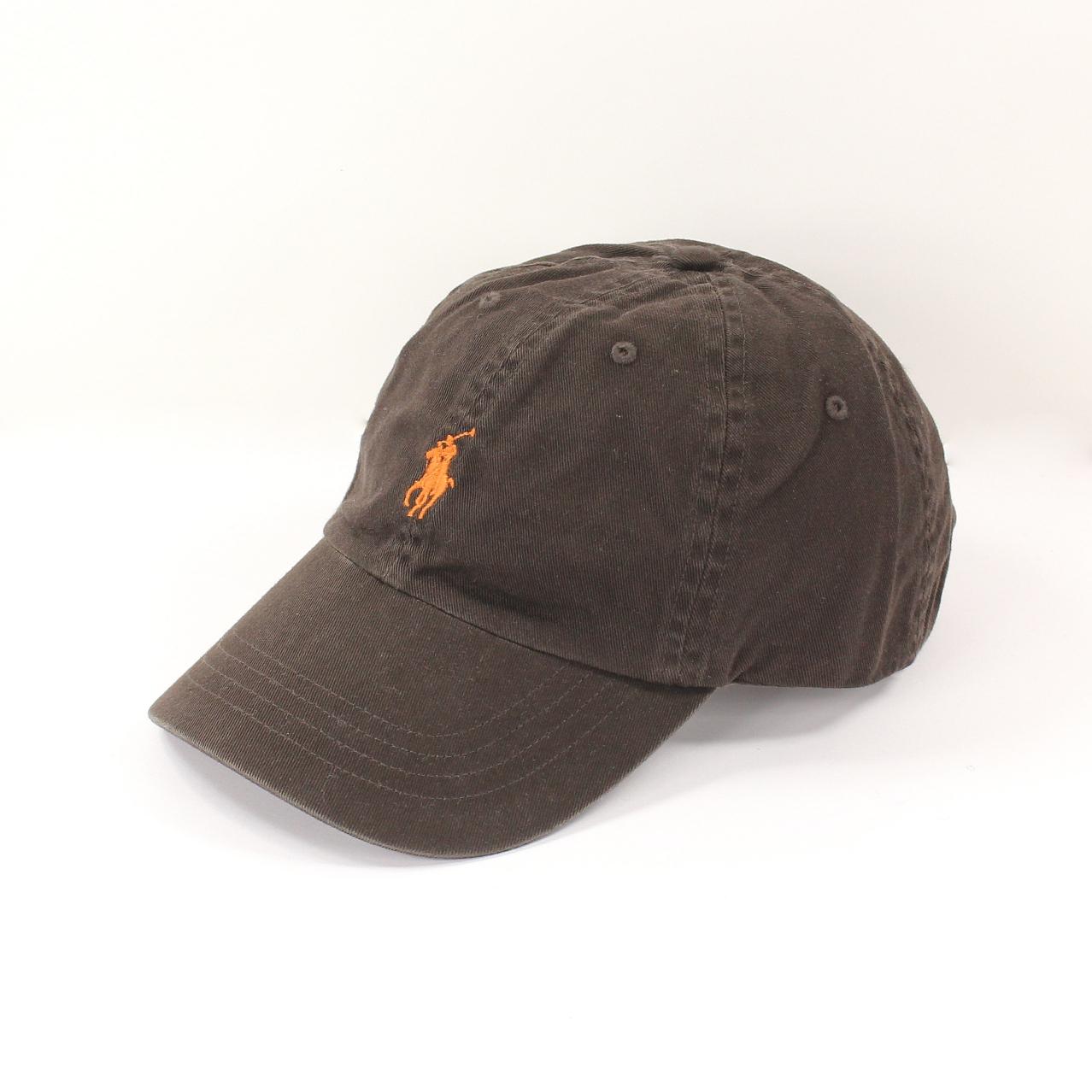 美國百分百【全新真品】Ralph Lauren 帽子 RL 配件 棒球帽 Polo 小馬 深咖 帆布 刺繡 男 A732