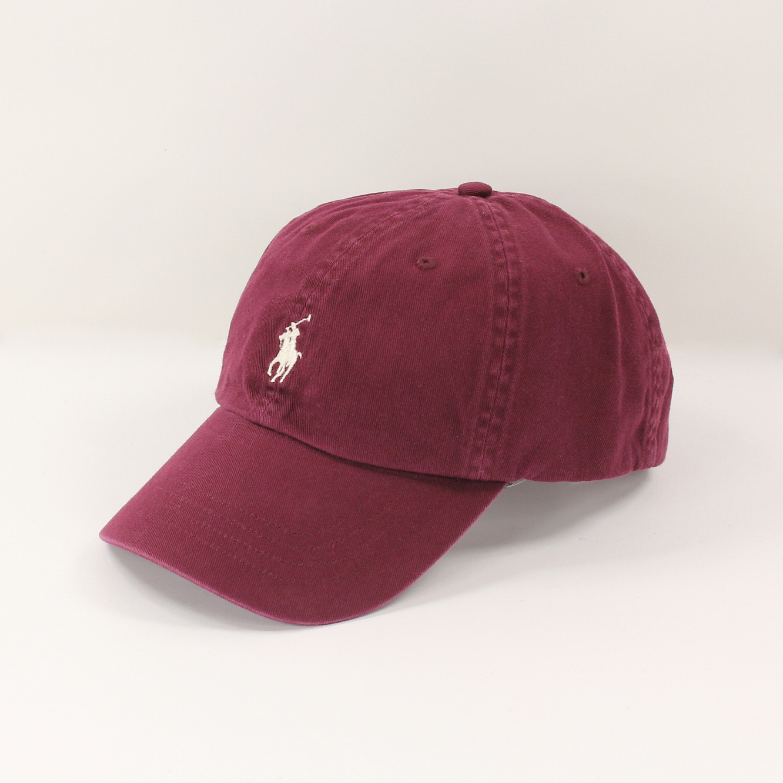美國百分百【全新真品】Ralph Lauren 帽子 RL 配件 棒球帽 Polo 小馬 酒紅 帆布 刺繡 男 A732