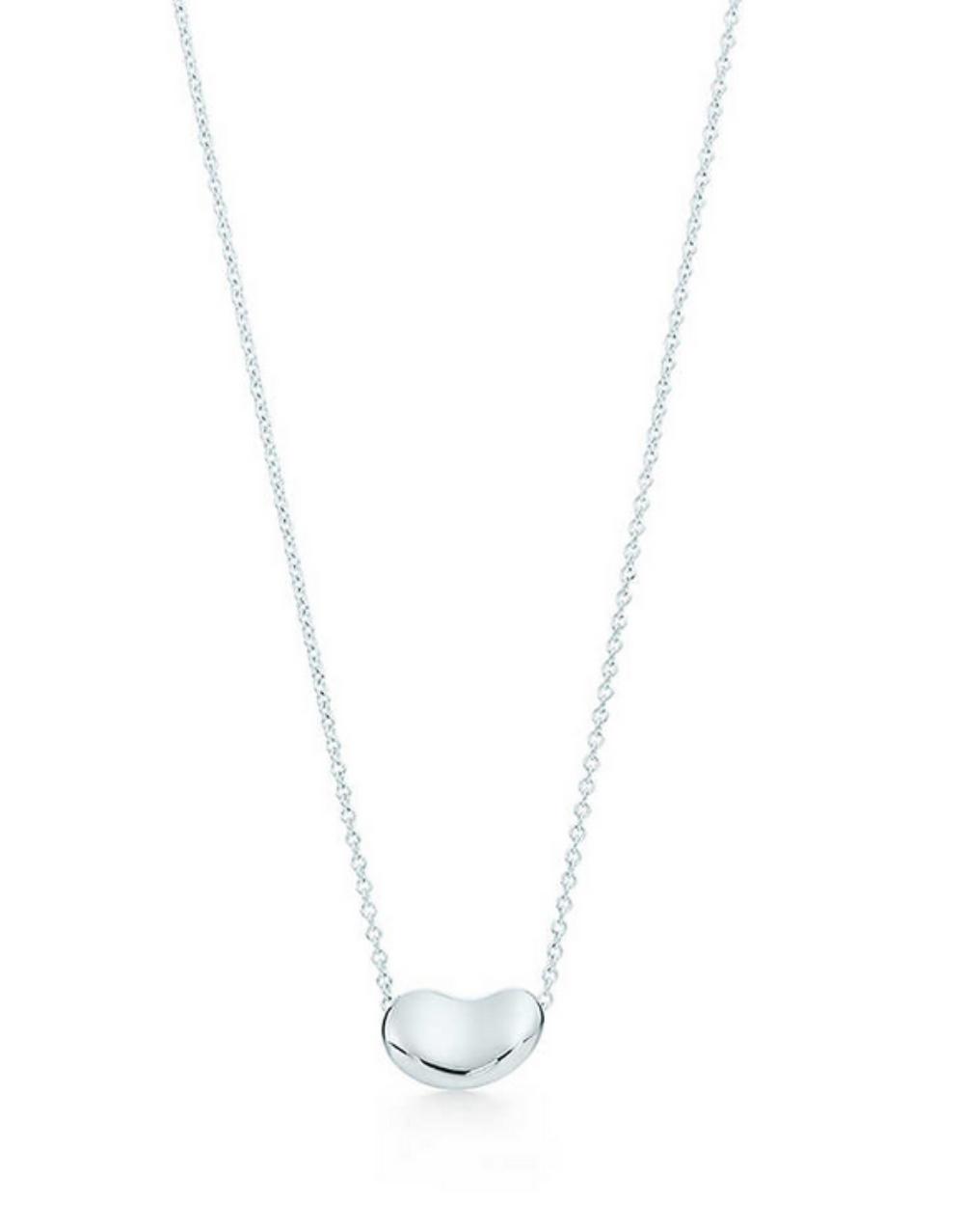 美國百分百【全新真品】Tiffany & Co. 項鍊 相思豆 純銀 925 bean ELSA PERETTI 紙袋 專櫃 保證正品