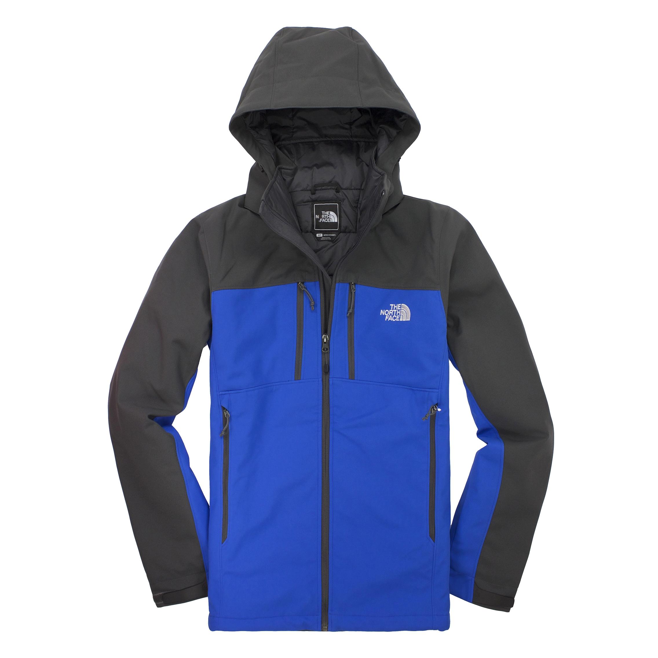 美國百分百【全新真品】The North Face 外套 TNF 夾克 軟殼 北臉 寶藍灰 防風 primaloft 男 S號 A825
