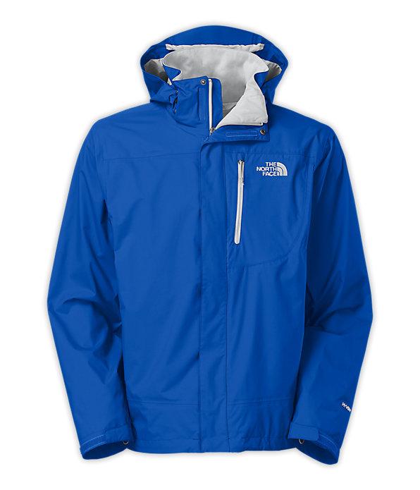 美國百分百【全新真品】The North Face 外套 TNF 夾克 連帽 北臉 寶藍 Hyvent 防風 防水 男 S號 A826