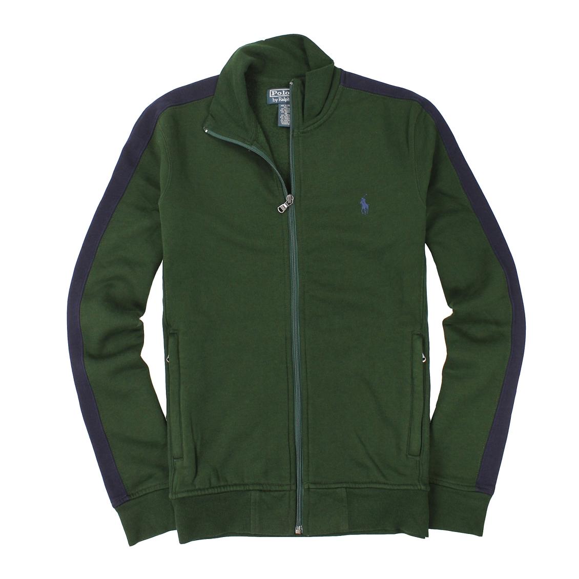 美國百分百【全新真品】Ralph Lauren 外套 RL 夾克 立領 Polo 小馬 綠色 立領 棉質 男衣 S號 A867