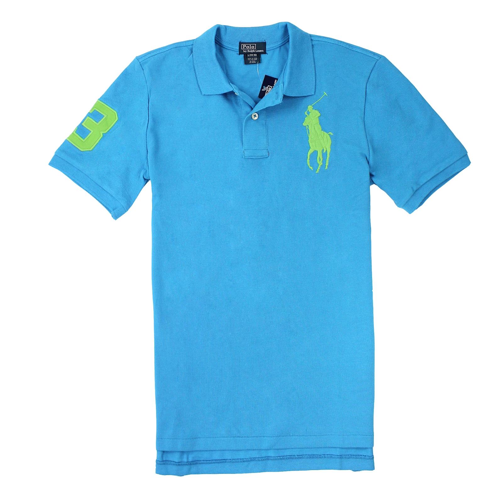 美國百分百【全新真品】Ralph Lauren Polo衫 RL 短袖 休閒 Polo 大馬 天藍 素面 網眼 男 XS S E065