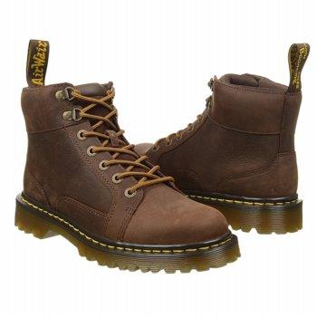 美國百分百【全新真品】Dr,Martens 鞋子 配件 靴子 短靴 馬汀 真皮 咖啡 長靴 麂皮 男鞋 41號