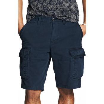 美國百分百【全新真品】Armani Exchange 褲子 AX 短褲 五分褲 亞曼尼 深藍 零錢 口袋 男 31 32 A838