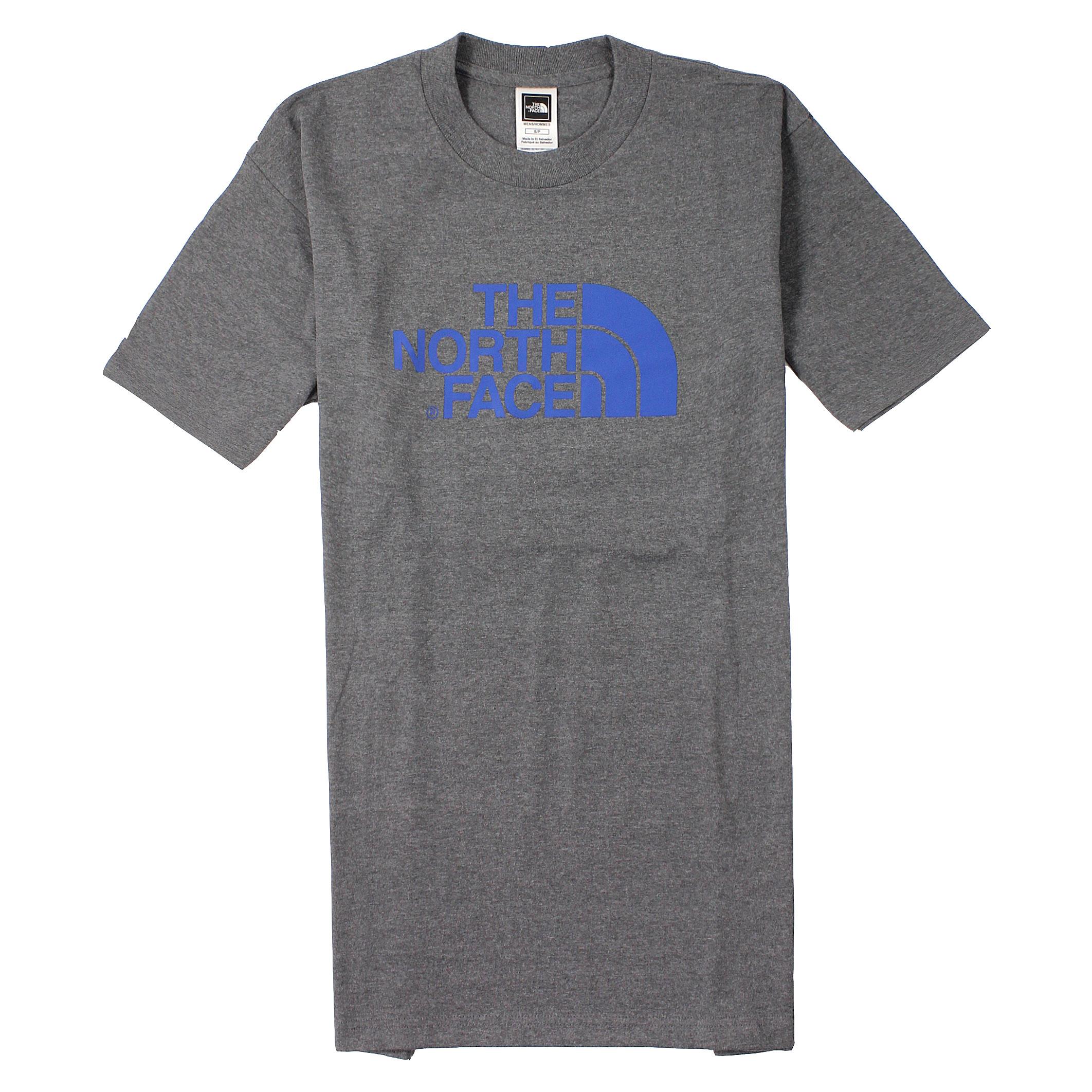 美國百分百【全新真品】The North Face T恤 短袖 上衣 T-shirt 北臉 深灰 素面 純棉 Logo 男 S L號