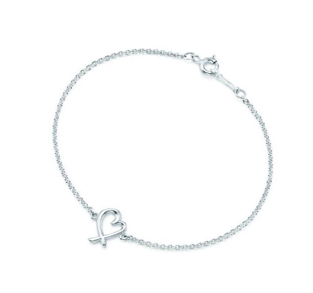 美國百分百【全新真品】Tiffany & Co. 手鍊 純銀 Loving heart 愛心 心型 專櫃 情人節 保證正品