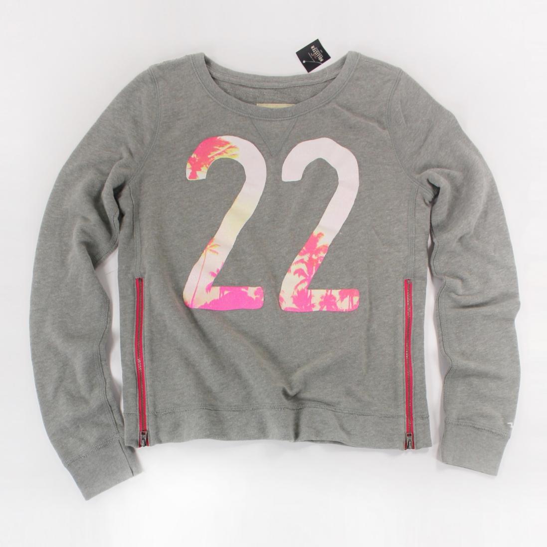 美國百分百【全新真品】Hollister Co. T恤 HCO 長袖 T-shirt 海鷗 灰色 S XS 女 E115
