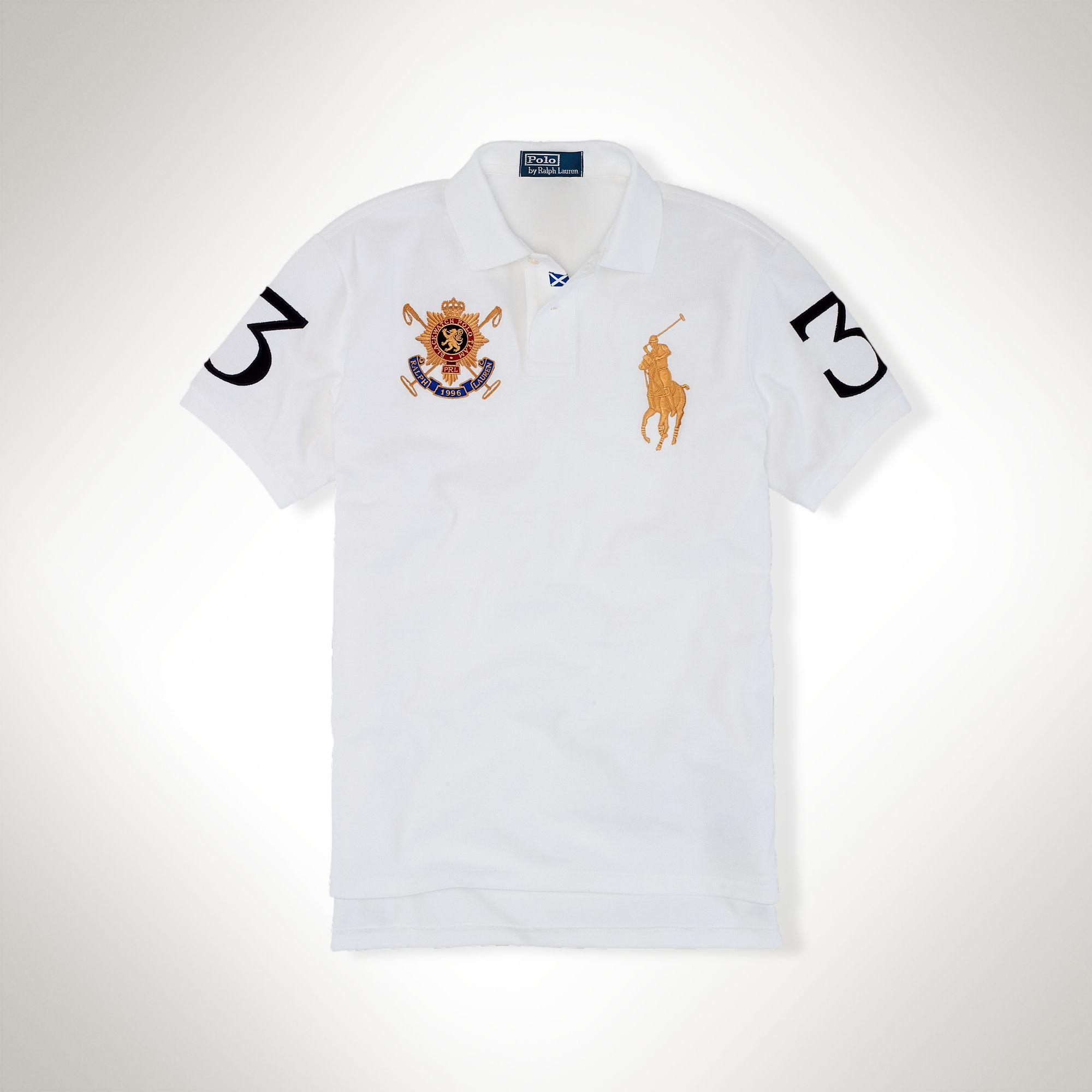 美國百分百【全新真品】Ralph Lauren Polo衫 RL 短袖 休閒 大馬 網眼 白色 男 S號 C384
