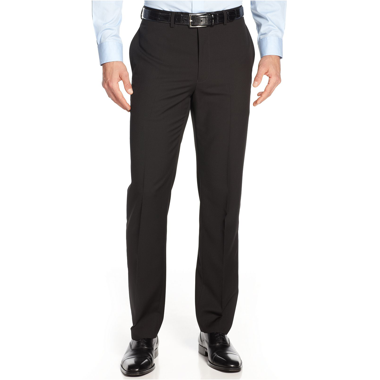 美國百分百【Calvin Klein】CK 長褲 西裝褲 直筒褲 上班 休閒 合身 窄 黑 30 32 33 34 36腰 E216