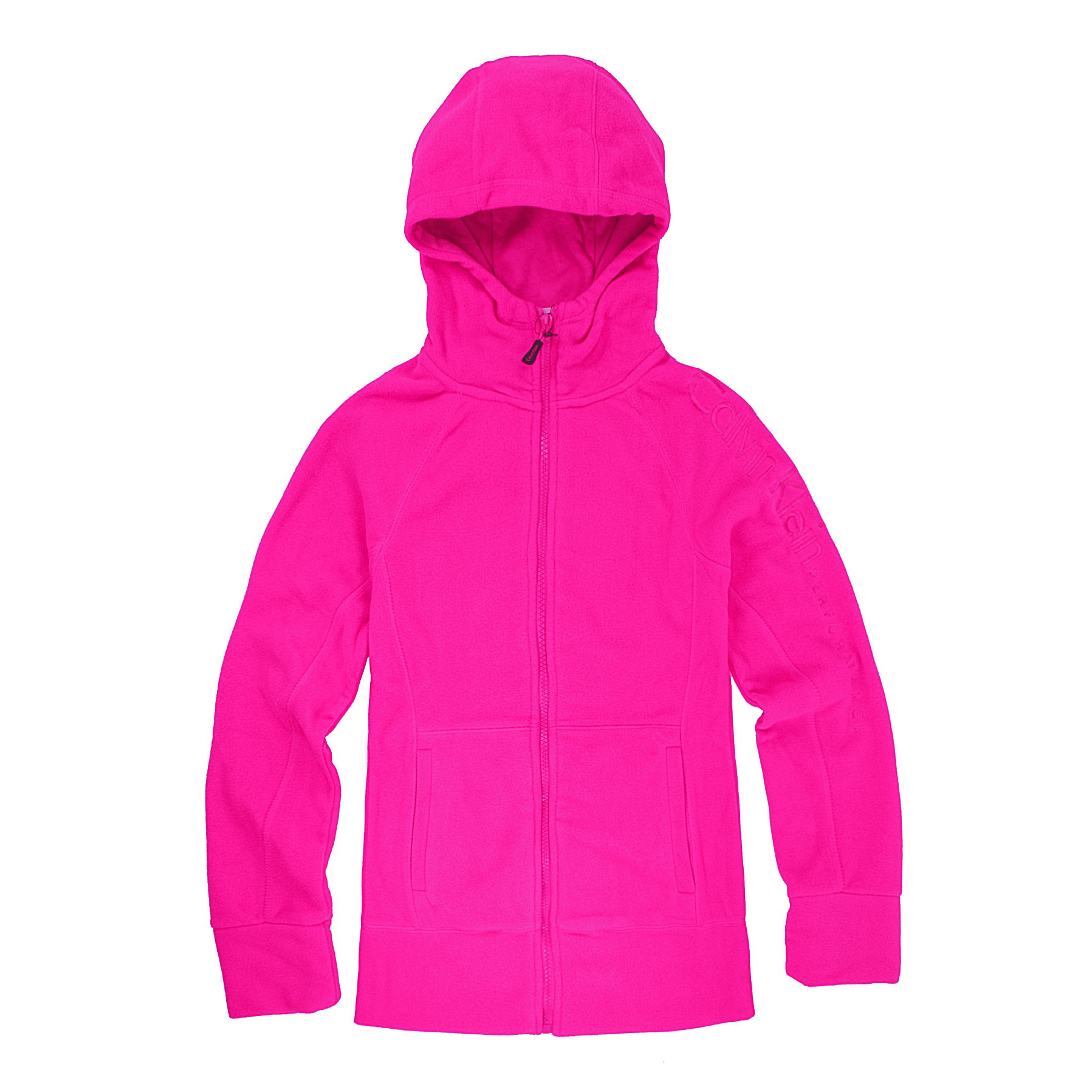 美國百分百【全新真品】Calvin Klein 外套 CK 刷毛 輕巧 快乾 保暖 羊毛 洋紅 XS S 女 B530