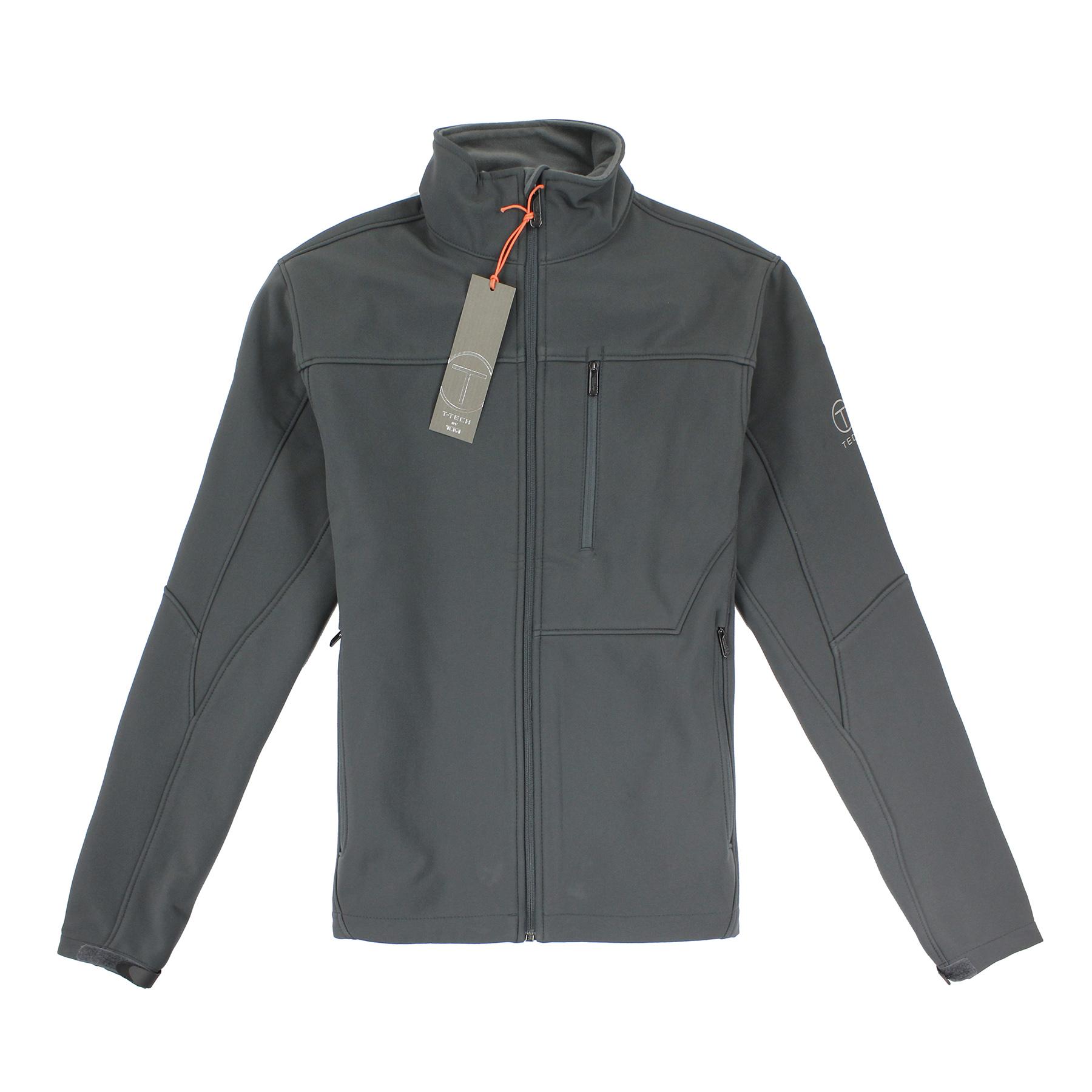 美國百分百【全新真品】Tumi 外套 立領 T-tech 防水 防風 軟殼 鋪棉 刷毛 灰色 S M XL號 E352
