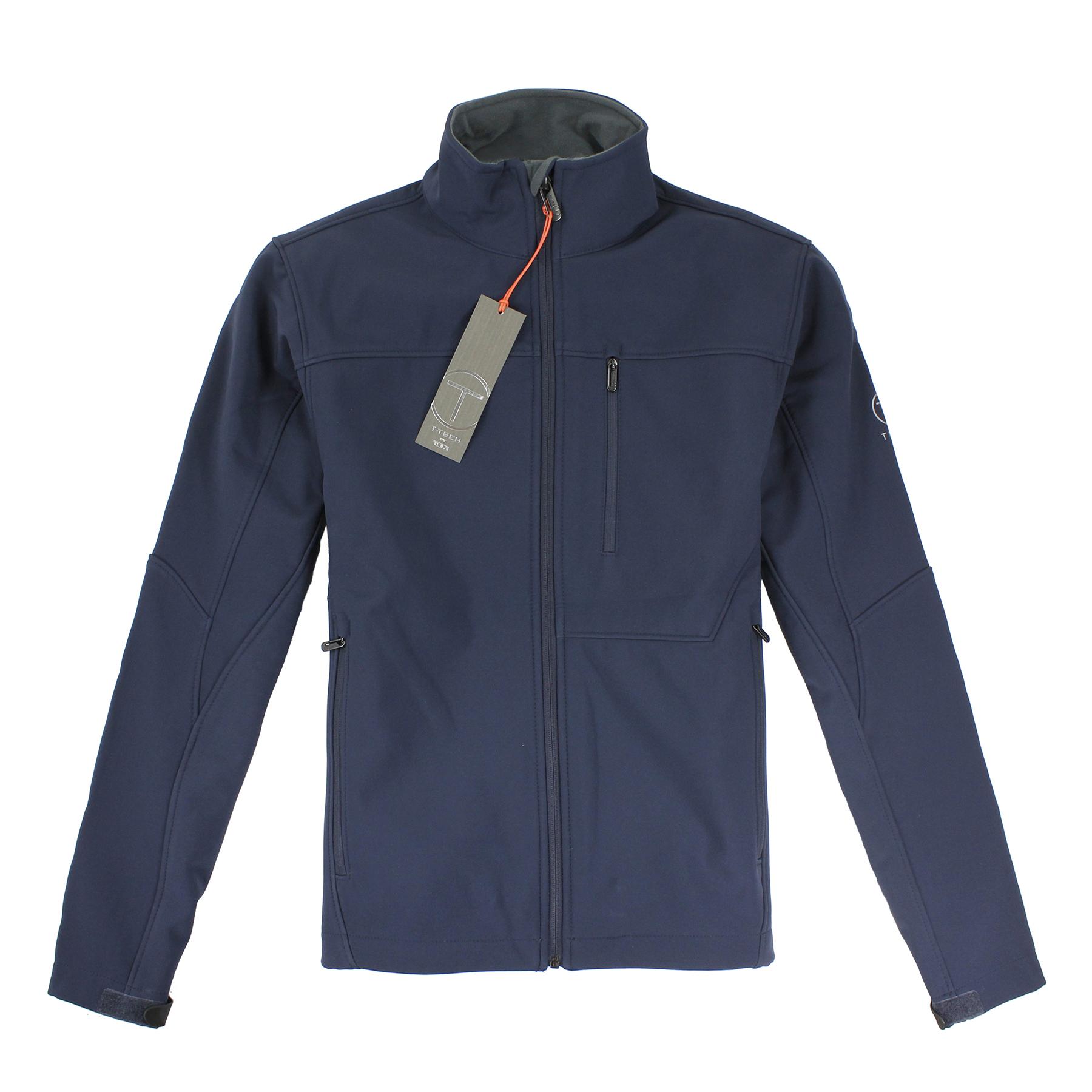 美國百分百【全新真品】Tumi 外套 立領 T-tech 防水 防風 軟殼 鋪棉 刷毛 深藍 S M L XL E352