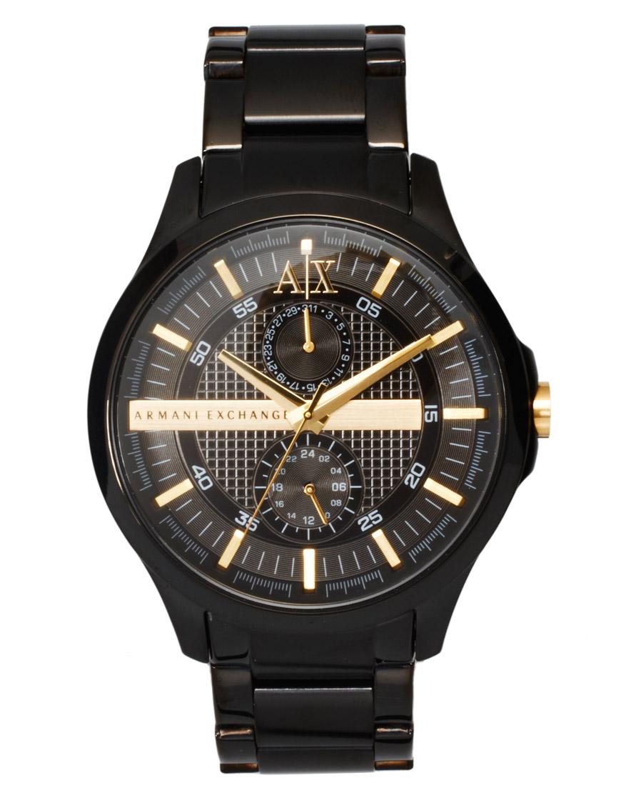 美國百分百【Armani Exchange】配件 AX 手錶 腕錶 金屬 大錶面 三眼 計時 阿曼尼 不鏽鋼 E370