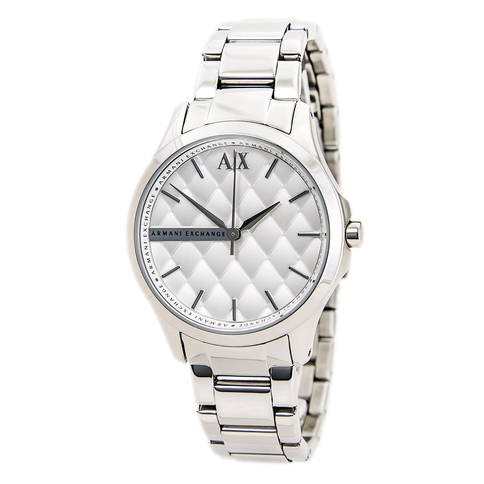 美國百分百【Armani Exchange】配件 AX 手錶 腕錶 金屬 菱格 女錶 阿曼尼 不鏽鋼 E371
