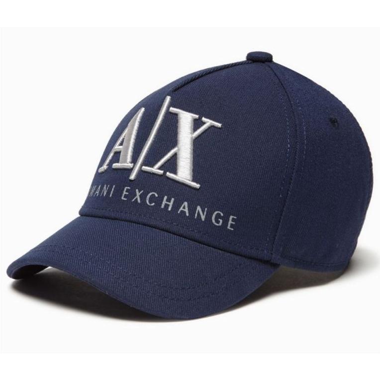 美國百分百【全新真品】Armani Exchange 鴨舌帽 棒球帽 AX 帽子 漁夫帽 LOGO 深藍 E378