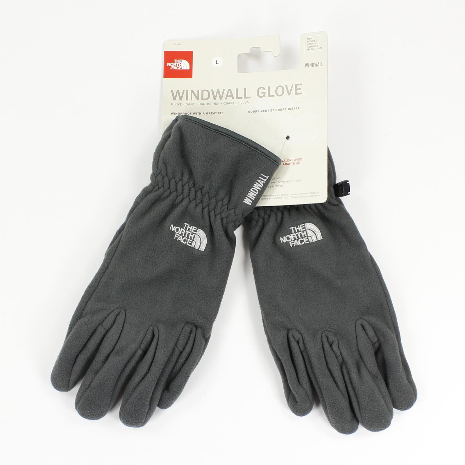美國百分百【The North Face 】手套 TNF 男 北臉 灰色 隔熱 保暖 滑雪 羊毛 L號 E381