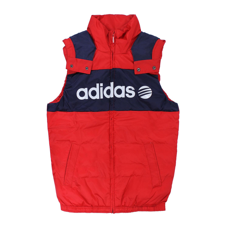 美美國百分百【全新真品】Adidas 背心 愛迪達 連帽 運動 潮流 街頭 保暖 男衣 S M號 E418
