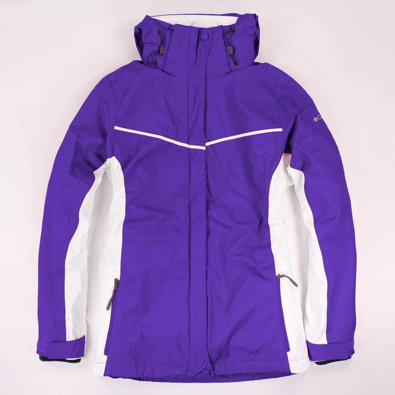 美國百分百【全新真品】Columbia 外套 夾克 連帽 哥倫比亞 紫色 兩件式 防水 女 M L號 E480