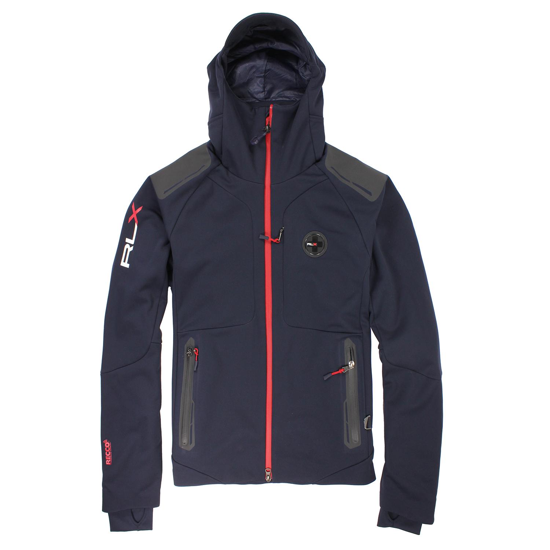 美國百分百【全新真品】Ralph Lauren 外套 RLX 上衣 連帽 滑雪 登山 運動 男 深藍 S號 E486
