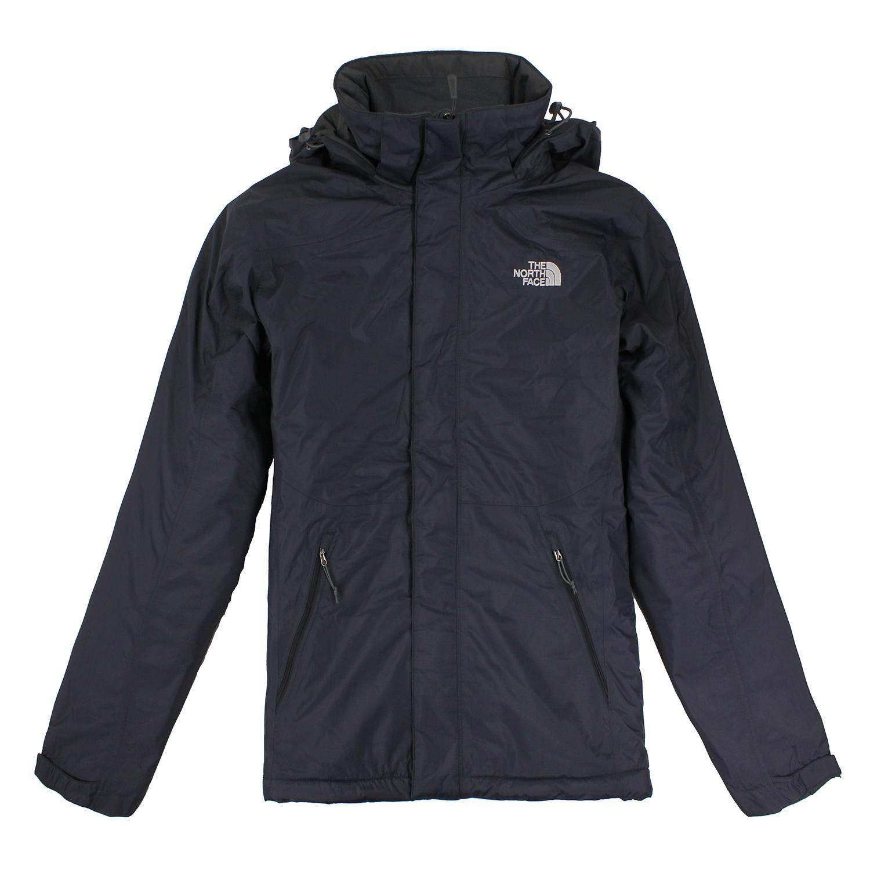 美國百分百【The North Face】外套 TNF 連帽 夾克 防水 透氣 保暖 登山 深藍 S M L號 E522
