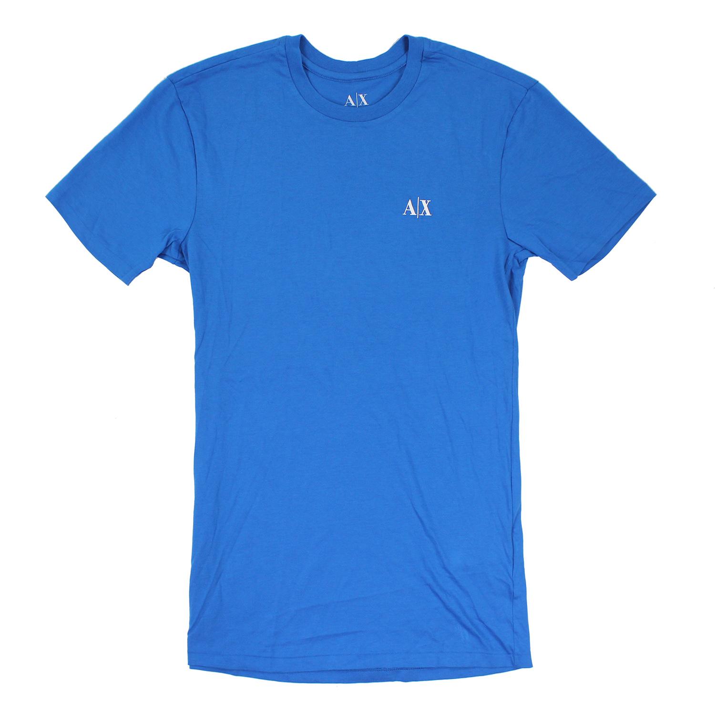 美國百分百【Armani Exchange】T恤 AX 短袖 文字 上衣 T-shirt 藍 XS M XL E679