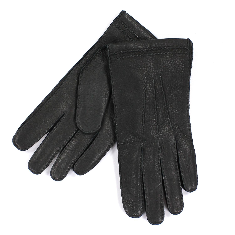 美國百分百【全新真品】COACH 手套 皮手套 黑色 配件 真皮 鹿皮 保暖 喀什米爾 羊毛 男 S號 E683