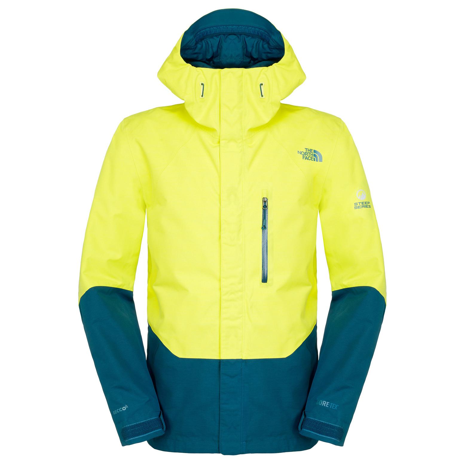 美國百分百【The North Face】外套 TNF 雪衣 夾克 GORE-TEX 滑雪 RECCO 黃 M E686