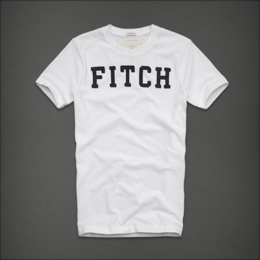 美國百分百【Abercrombie & Fitch】T恤 AF 短袖 T-shirt 麋鹿 FITCH 白色 E744