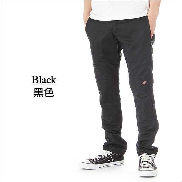 美國百分百【Dickies】工作褲 長褲 WP 811 SKINNY Work Pant 低腰 窄版 合身 黑 E793