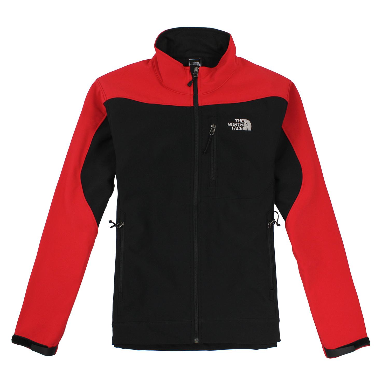 美國百分百【全新真品】The North Face 男 保暖 防風 外套 TNF 軟殼 夾克 紅 黑 S號 B960